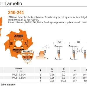 CMT notfres for Lamello og andre kjeksmaskiner