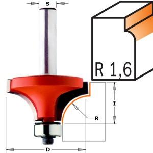 CMT 938.160.11 avrundingsfres R 1,6 mm