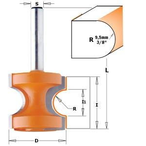 Halvstavfres avrundingsfres R 9,5 mm