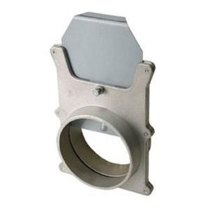 Skyvespjeld i aluminium for  sponavsug Beregnet for slangetilkobling i begge ender