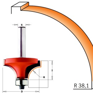 CMT 938.996.11 avrundingsfres R 38,1 mm