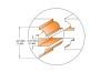 CMT 900.527.11 Fresesett for dører målskisse