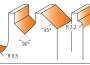CMT 900.008.02 Fresesett Fræsejernssett Overfræsesett Profiloversikt