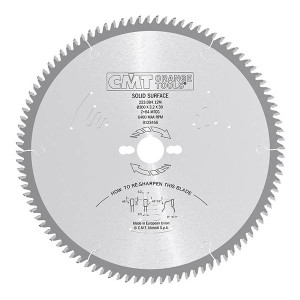 CMT 223.048.06H HM sagblad for solid surface Corian