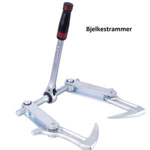 Verktøy for sammenføyning/montering av bjelker/massivtre