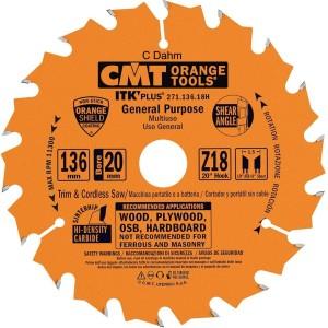 CMT Orange Tools 271.136.18h (Ultra ITK) sagblad136 x 1.5 x 20 Z 18