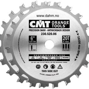 CMT 230.520.06 Precision Dado Set, 6-Inch x 20 Teeth FTG+ATB Grind with 5/8-Inch Bore